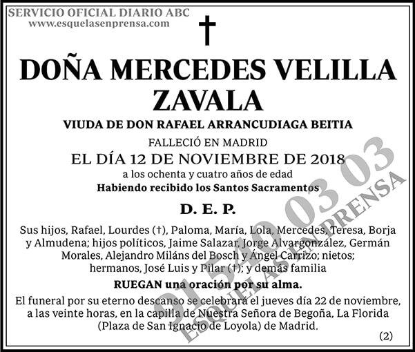 Mercedes Velilla Zavala